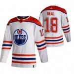 Edmonton Oilers #18 James Neal White Men's Adidas 2020-21 Reverse Retro Alternate NHL Jersey