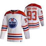 Edmonton Oilers #93 Ryan Nugent-Hopkins White Men's Adidas 2020-21 Reverse Retro Alternate NHL Jersey