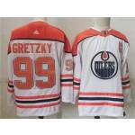 Edmonton Oilers #99 Wayne Gretzky White 2020-21 Reverse Retro Jersey