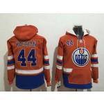 NHL Edmonton Oilers #44 Zack Kassian Orange All Stitched Hooded Sweatshirt