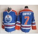 Men's Edmonton Oilers #7 Paul Coffey Blue Throwback CCM Jersey