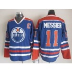 Men's Edmonton Oilers #11 Mark Messier Blue Throwback CCM Jersey