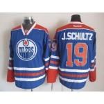 Men's Edmonton Oilers #19 Justin Schultz Blue Throwback CCM Jersey