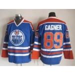Men's Edmonton Oilers #89 Sam Gagner Blue Throwback CCM Jersey
