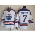 Men's Edmonton Oilers #7 Paul Coffey White Throwback CCM Jersey