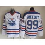 Men's Edmonton Oilers #99 Wayne Gretzky White Throwback CCM Jersey