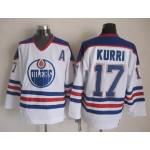 Men's Edmonton Oilers #17 Jari Kurri White Throwback CCM Jersey