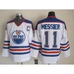 Men's Edmonton Oilers #11 Mark Messier White Throwback CCM Jersey