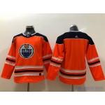Youth Edmonton Oilers Blank Orange Adidas Jersey