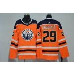 Youth Edmonton Oilers #29 Leon Draisaitl Orange Adidas Jersey