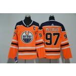 Youth Edmonton Oilers #97 Connor McDavid Orange Adidas Jersey