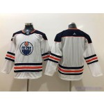 Youth Edmonton Oilers Blank White Adidas Jersey