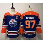 Youth Edmonton Oilers #97 Connor McDavid Blue Adidas Jersey