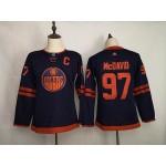 Youth Edmonton Oilers #97 Connor McDavid Navy 50th Anniversary Adidas Jersey