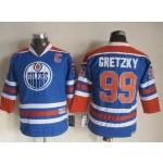 Youth Edmonton Oilers #99 Wayne Gretzky Blue Throwback CCM Jersey