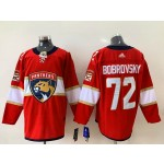 NHL Florida Panthers #72 Sergei Bobrovsky Red Adidas Jersey