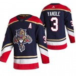 Florida Panthers #3 Keith Yandle Black Men's Adidas 2020-21 Reverse Retro Alternate NHL Jersey