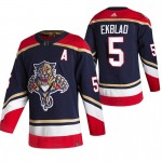 Florida Panthers #5 Aaron Ekblad Black Men's Adidas 2020-21 Reverse Retro Alternate NHL Jersey