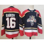 Florida Panthers #16 Aleksander Barkov Black Men's Adidas 2020-21 Reverse Retro Alternate NHL Jersey