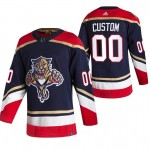 Florida Panthers Custom Black Men's Adidas 2020-21 Alternate Authentic Player NHL Jersey (Name and number remark in comment column)