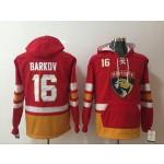 NHL Florida Panthers #16 Aleksander Barkov Red All Stitched Hooded Sweatshirt