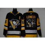NHL Pittsburgh Penguins #66 Mario Lemieux Black Team Logo Adidas Jersey