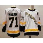 Men's Pittsburgh Penguins #71 Evgeni Malkin White 2021 Reverse Retro Jersey