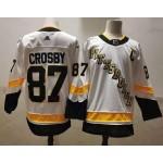 Men's Pittsburgh Penguins #87 Sidney Crosby White 2021 Reverse Retro Jersey