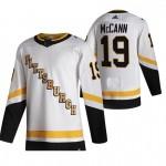 Pittsburgh Penguins #19 Jared McCann White Men's Adidas 2020-21 Reverse Retro Alternate NHL Jersey