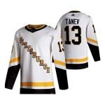 Men's Pittsburgh Penguins #13 Brandon Tanev White 2020-21 Reverse Retro Jersey