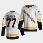 Men's Pittsburgh Penguins #77 Jeff Carter White 2020-21 Reverse Retro Jersey