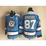 Men's Pittsburgh Penguins #87 Sidney Crosby light blue Throwback CCM Jersey