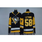 Women Pittsburgh Penguins #58 Kris Letang Black Adidas Jersey