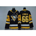 Women Pittsburgh Penguins #66 Mario Lemieux Black Adidas Jersey