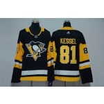 Women Pittsburgh Penguins #81 Phil Kessel Black Adidas Jersey