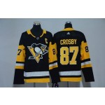 Women Pittsburgh Penguins #87 Sidney Crosby Black Adidas Jersey