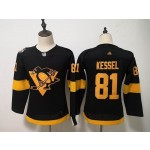 Women Pittsburgh Penguins #81 Phil Kessel Black 2019 Stadium Series jersey