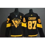 Women Pittsburgh Penguins #87 Sidney Crosby Black 2019 Stadium Series jersey