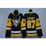 Youth Pittsburgh Penguins #87 Sidney Crosby Black Adidas Jersey