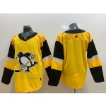 Youth Pittsburgh Penguins Blank Yellow Adidas jersey