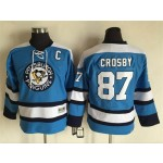 Youth Pittsburgh Penguins #87 Sidney Crosby light blue Throwback CCM Jersey