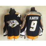 Men's Nashville Predators #9 Paul Kariya Navy Blue Throwback CCM Jersey