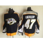 Men's Nashville Predators #47 Alexander Radulov Navy Blue Throwback CCM Jersey