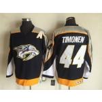 Men's Nashville Predators #44 Kimmo Timonen Navy Blue Throwback CCM Jersey