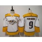 Women Nashville Predators #9 Filip Forsberg White Adidas Jersey