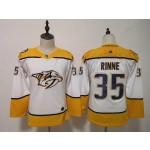 Women Nashville Predators #35 Pekka Rinne White Adidas Jersey