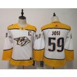 Women Nashville Predators #59 Roman Josi White Adidas Jersey