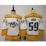 Youth Nashville Predators #59 Roman Josi White Adidas Jersey