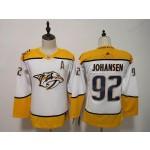 Youth Nashville Predators #92 Ryan Johansen White Adidas Jersey