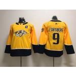 Youth Nashville Predators #9 Filip Forsberg Yellow Adidas Jersey